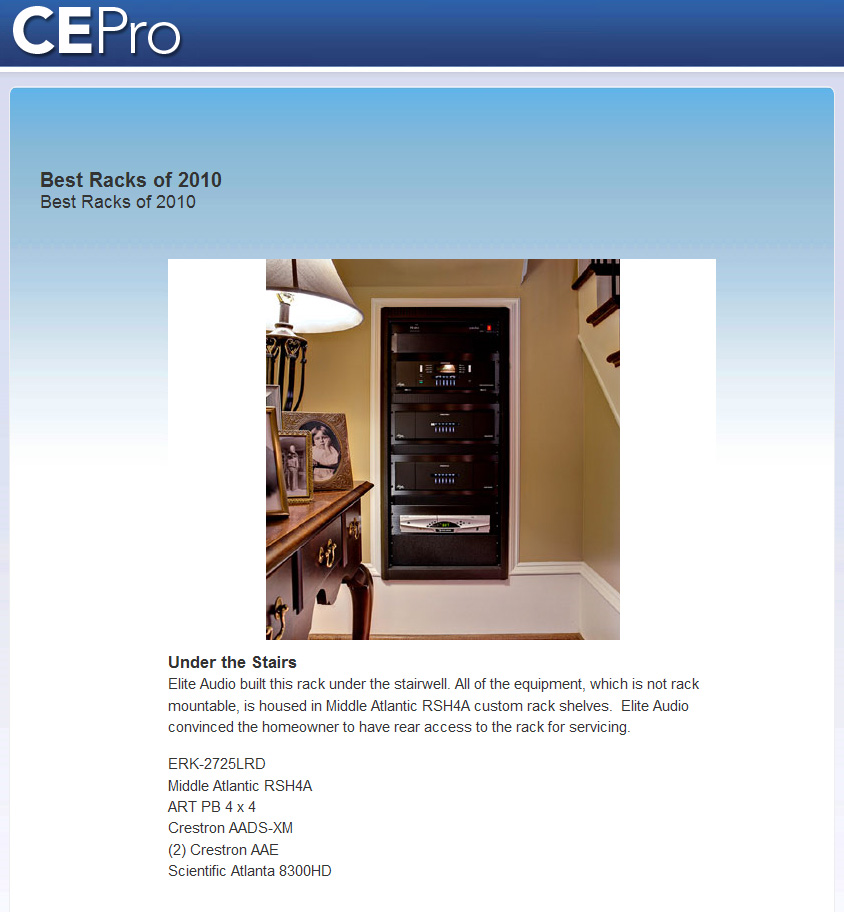 CE Pro Best Racks of 2010